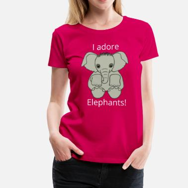 Pink Elephant Love Elephants in Pink - Women's Premium T-Shirt