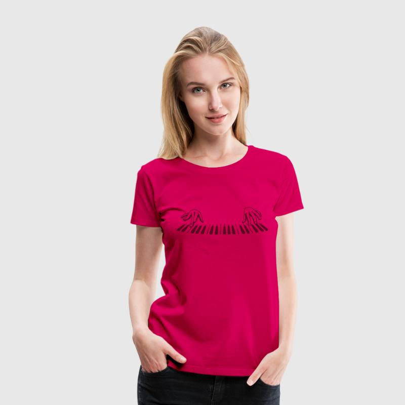 piano finger - Women's Premium T-Shirt