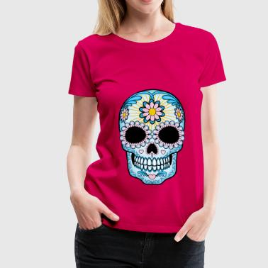 Colorful Sugar Skull - Women's Premium T-Shirt