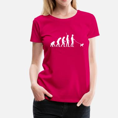 Pug Evolution Evolution Dog Pug - Women's Premium T-Shirt
