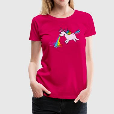 puking unicorn - Women's Premium T-Shirt