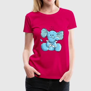 Blue Elephant Cute Blue Elephant - Elephants - Women's Premium T-Shirt