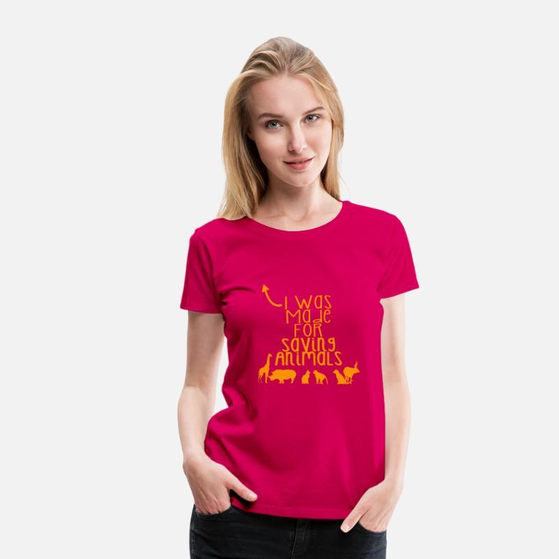 ac85529017998b Save Elephants T-Shirts - Saving Animals - Women s Premium T-Shirt dark pink