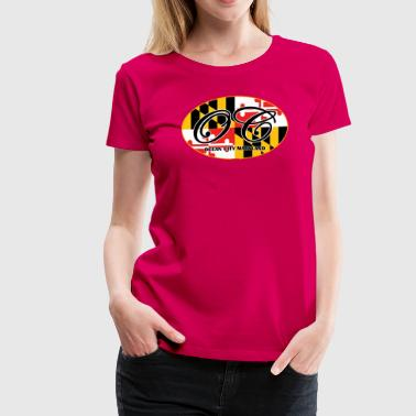 Ocean City Maryland Flag Design - Women's Premium T-Shirt