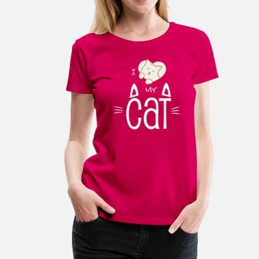 Felino I love my cat (dark) - Women's Premium T-Shirt
