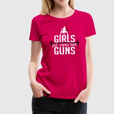 Fitness: girls just wanna have guns - Women's Premium T-Shirt