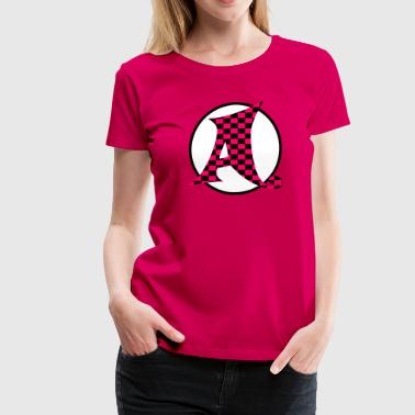 Whimsical Monogram A - Women's Premium T-Shirt