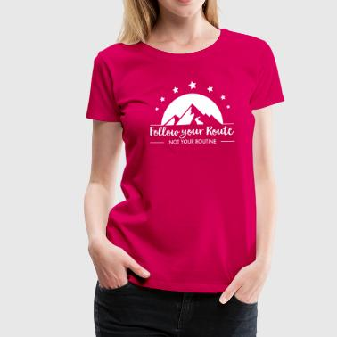 hiking - Women's Premium T-Shirt