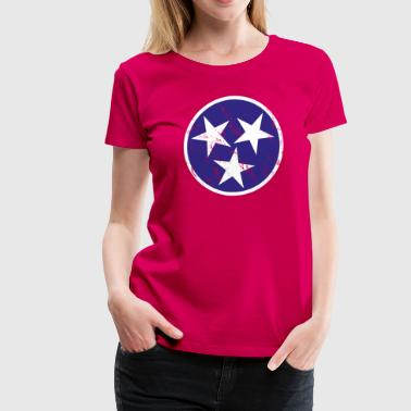 Vintage Tennessee Flag - Women's Premium T-Shirt