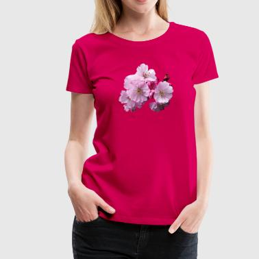 Closeup of Cherry Blossoms - Women's Premium T-Shirt