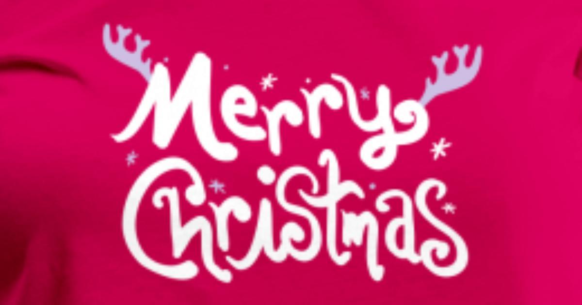 merry christmas text by mycastillo | Spreadshirt