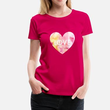 Subtle Christian Love for Christ Pink Heart Christian Design - Women's Premium T-Shirt