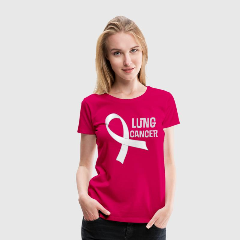 Lung Cancer Pearl Ribbon Awareness - Women's Premium T-Shirt
