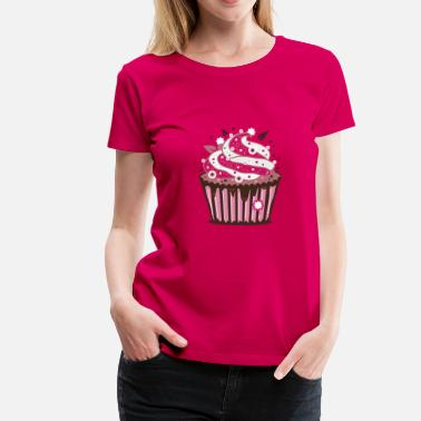 Cupcake Design A cupcake with frosting - Women's Premium T-Shirt