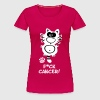 Fuck Cancer Breast Cancer Cat Cats Statement Fun - Women's Premium T-Shirt