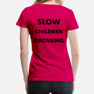 Signal CHILDREN CROSSING - Women's Premium T-Shirt