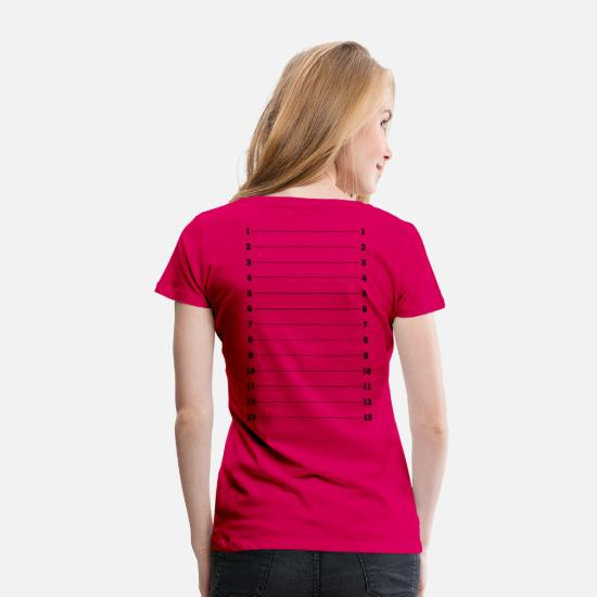 Hair T-Shirts - Hair Length Check Tee - Plus Size - Women's Premium T-Shirt dark pink