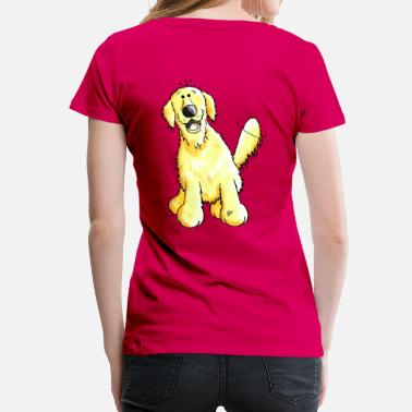 Cute Golden Retriever Cute Golden Retriever - Dog - Dogs - Women's Premium T-Shirt