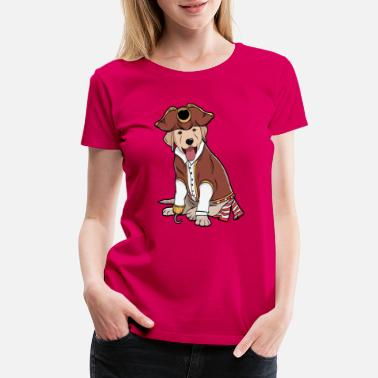 Pirate Designs Certified Dog Lover? Here's a cute tshirt design - Women's Premium T-Shirt