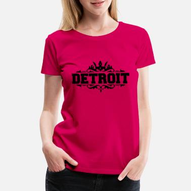 Down With Detroit DETROIT michigan usa down with detroit - Women's Premium T-Shirt