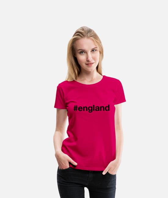 English T-Shirts - ENGLAND - Women's Premium T-Shirt dark pink