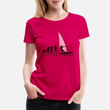 evolution_of_woman_windsurfing_092014_d_ - Women's Premium T-Shirt