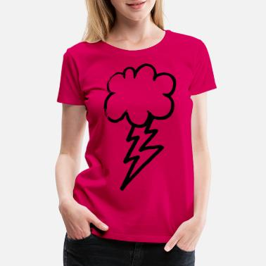 Lightning Daily Sketch: Thunder and Lightning - Women's Premium T-Shirt