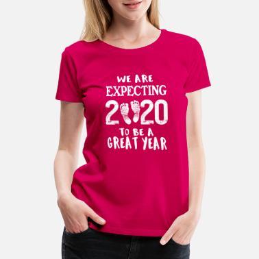 55f1696427ff4 Pregnancy Announcement Grandparents Pregnancy Reveal Baby Announcement New  Year 2020 - Women's. Women's Premium T-Shirt