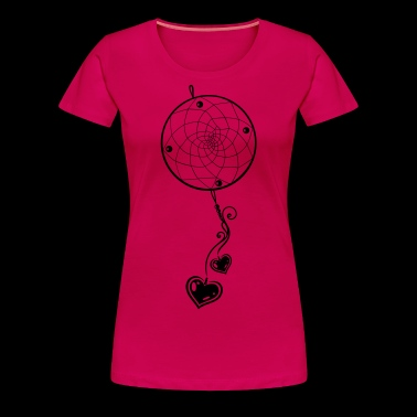 Dreamcatcher with two hearts and love. - Women's Premium T-Shirt