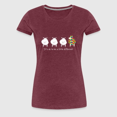 It_s OK To Be A Little Different Autism Sheep - Women's Premium T-Shirt