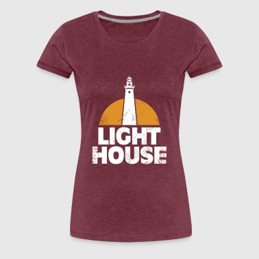 Lighthouse See Boat Ship Land Gift Fishermen - Women's Premium T-Shirt