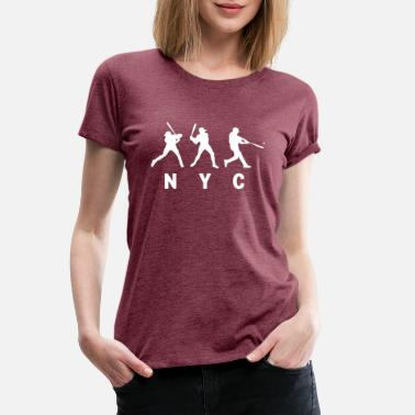 New York Baseball T Shirt - Women's Premium T-Shirt