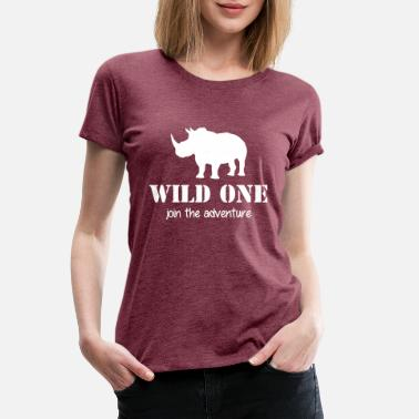 Crocodile Wild One - join the adventure - Rhino - Elephant - Women's Premium T-Shirt