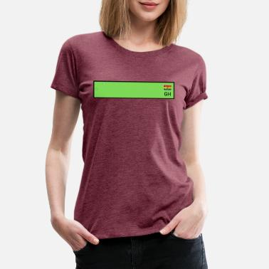 License Customizable Green GH Plate - Women's Premium T-Shirt