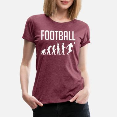 American Football Dad Evolution of Man to Football Player - Women's Premium T-Shirt