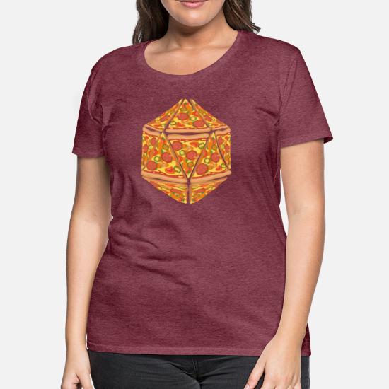 5e4434ba2 Pizza Dice Dungeon RPG tabletop gamer gift Women's Premium T-Shirt ...