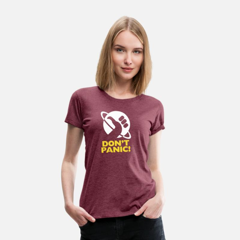 Guide T-Shirts - Inspired by The Hitchhiker s Guide to the Galaxy - Women's Premium T-Shirt heather burgundy