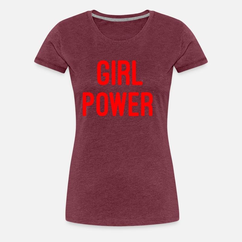 Girl Power Funny Quotes Inspirational Women S Premium T Shirt Navy
