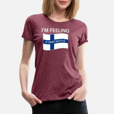 Suomi Flag Feeling Finntastic Finland Suomi Flag Funny Gift - Women's Premium T-Shirt