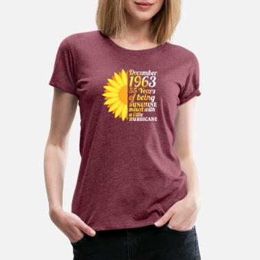 A Little Sunshine 55 Years Of Being Sunshine Mixed With A Little - Women's Premium T-Shirt