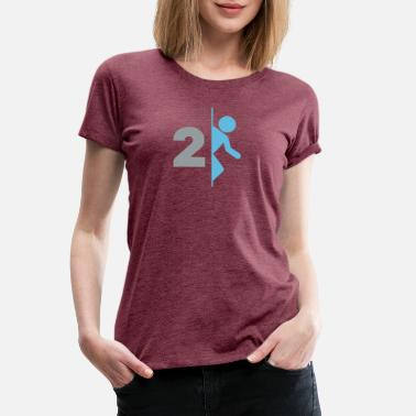 Portal Gaming Portal 2 Game Logo - Women's Premium T-Shirt