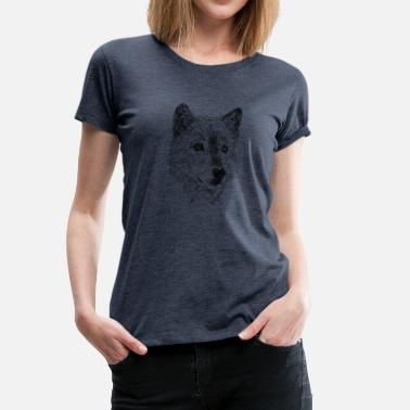 Wolf Draw Wolf pencil drawing - Women's Premium T-Shirt