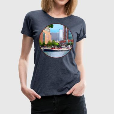 Women's Chicago Chicago IL - Chicago River Near Centennial Fountai - Women's Premium T-Shirt