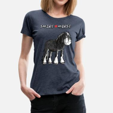 Shire Horse I love Shire Horses - Horse - Gift - Cartoon - Women's Premium T-Shirt