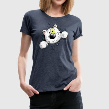 Cartoon Naughty Cat - Cats - Cartoon - Gift - Funny - Women's Premium T-Shirt