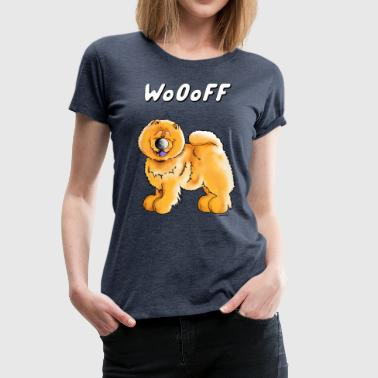 Chow Chow Mom Woof Chow Chow - Dog - Chow Chows - Gift - Women's Premium T-Shirt
