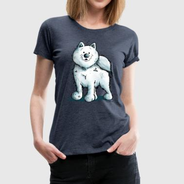 Funny Samoyed Dog Comic - Samoyeds - Gift - Fun - Women's Premium T-Shirt