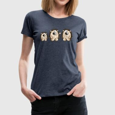 Cute Hedgehog Family - Cartoon - Gift - Fun - Women's Premium T-Shirt