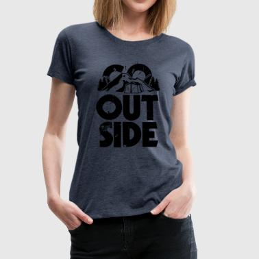 Go Outside - Women's Premium T-Shirt