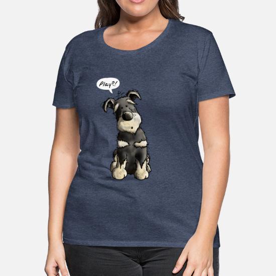0f4ec4d8 Women's Premium T-ShirtPlay Schnauzer Dog Cartoon - Gift - Fun - Dogs